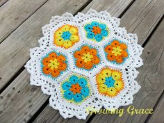 Ravelry: Project Gallery for African Flower Centerpiece pattern by Growing Grace