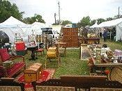 Sparks Antiques and Collectibles Flea Market: 500 dealers, 450 antique dealers, 16 food vendors, North K-7 Highway and 240th Road, Sparks, KS | 2013 Show Days: Spring: May 2, 3, 4, & 5/ Fall: Aug. 29, 30, 31 & Sep. 1, Hours: Booths open between 7 and 8 a.m. and close by 6 p.m., Parking: Free on the four acre parking lot controlled by the Sparks Antiques and Collectibles Flea Market
