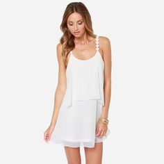 Aodibao 5 colors 2017 Summer Dress Women Casual Solid Ruffles Chiffon Lace Camiseta Patchwork Backless A-Line Women Beach Dress*