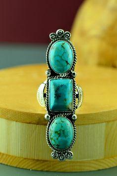 Kingman Turquoise Navajo Ring Size 7 | Navajo Kingman Turquoise Ring | Kingman Turquoise Ring
