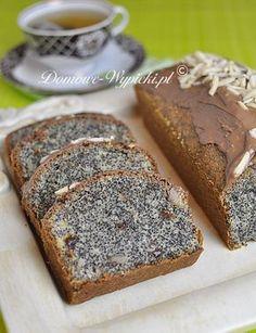 Keks makowy Polish Desserts, Polish Recipes, Polish Food, Poppy Seed Cake, Good Food, Yummy Food, Sandwich Cake, Sweets Cake, Loaf Cake