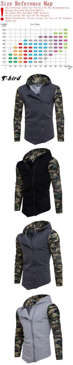 T-bird 2017 New Fashion Hoodies Brand Men Side Zipper Sweatshirt Male Hoody Hip Hop Autumn Winter Hoodie Mens Pullover S-XXL