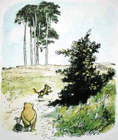 Winnie-the-Pooh classic print / Vintage book Print / Children art print / Nursery Print / Baby poster Winnie The Pooh Tattoos, Winnie The Pooh Quotes, Winnie The Pooh Friends, Pooh Bear, Tigger, Eeyore, Winnie The Pooh Pictures, Winnie The Pooh Classic, Eh Shepard