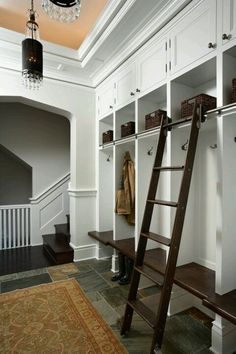Want this mud room by the garage door