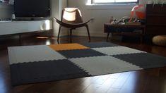 Grey Softwood Interlocking Foam Floor Tile Trade Show