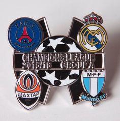 Annons på Tradera: Malmö FF MFF Real Madrid PSG Champions League pin!