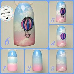 Nail art globe For other models, you can visit the category. For more ideas, please … Nail Art Hacks, Gel Nail Art, Easy Nail Art, Fruit Nail Designs, Nail Art Designs, Fruit Nail Art, Airbrush Nails, Vintage Nails, Nail Techniques