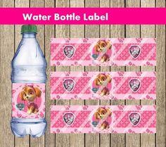 Paw Patrol Skye Water Bottle Label, DIGITAL FILE, bottle label