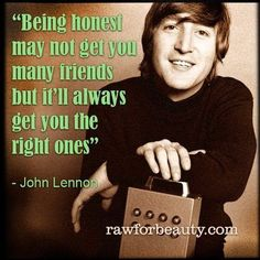 John Lennon on friends...