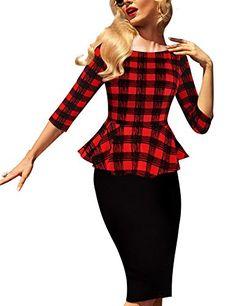 Saslax Womens 3/4 Sleeve Peplum Elegant Vintage Wear To W... https://www.amazon.com/dp/B01IMYI7QE/ref=cm_sw_r_pi_dp_x_2F-gybA2RMGBB
