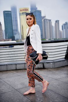 silk pants for a cute spring look. they're light as a feather