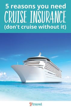 Planning a cruise? Don't leave home without cruise insurance. Here are 5 reasons why! Planning a cruise? Don't leave home without cruise insurance. Here are 5 reasons why! Overseas Travel, Cruise Travel, Solo Travel, Cruise Tips, Travel News, Travel Guides, Travel Flights, Cruise Insurance, Family Vacation Destinations