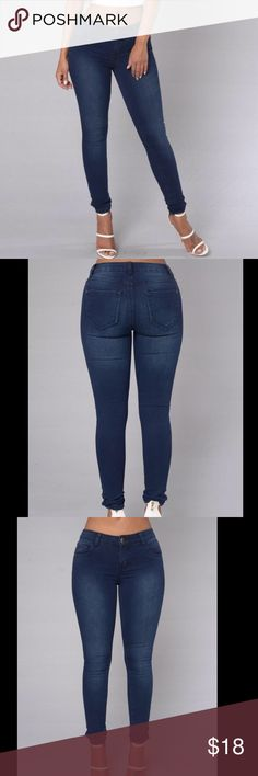 FASHION NOVA JEANS Size 3. However if you're a size 1 these would fit you too since I do feel that these run a bit smalls New with tags and packaging. *measurements were taken flat not full circumference* Fashion Nova Jeans Straight Leg