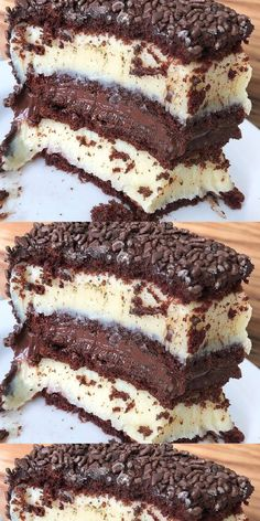 Tiramisu, Sweet Tooth, Sweets, Chocolate, Ethnic Recipes, Stuffing Recipes, Delicious Recipes, Tasty Food Recipes, Sprinkle Cakes