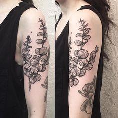"1,798 Likes, 26 Comments - Johno (@johno_tattooer) on Instagram: ""Eucalyptus Branch - thanks Melissa #tattoo #blacktattoo #blackworker #blackiristattoo #eucalyptus…"""