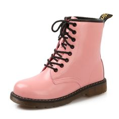 29.40$  Watch now - http://aliqmk.shopchina.info/1/go.php?t=32298099871 - 4 colors (White / black / red / pink) Free shipping women's lace-up ankle boots autumn platform motorcycle boots for women  #buyininternet