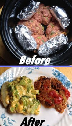 Crock Pot Meatloaf and Cheezy Baked Potato