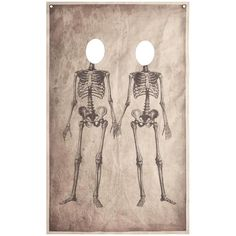 This skeleton couple photo booth banner will be the hit of your Halloween party, and will give your guests lasting memories of the event. It's simple to mount and easily rolls up for quick, space-saving storage.