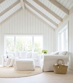 New House Floor Plan - Priority Wishlist - vaulted living room with shiplap walls and ceiling, light wood ceiling beams Shiplap Ceiling, Wood Ceilings, Wood Ceiling Beams, Painted Wood Ceiling, Ceiling Plan, Vaulted Ceilings, Ceiling Lighting, Vaulted Living Rooms, Home Living Room
