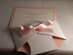 Hand Made Diaper Baby Shower Invitation or Baby by APaperParadise