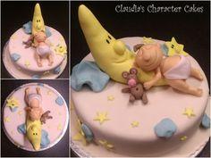 Babytorte Mond & Sterne   Baby Cake Moon & Stars
