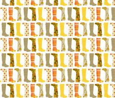 Fun Wellies! fabric by ragan on Spoonflower - custom fabric