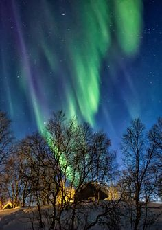 A Rain of Lights, Finnish Lapland by Kristin Repsher on 500px.