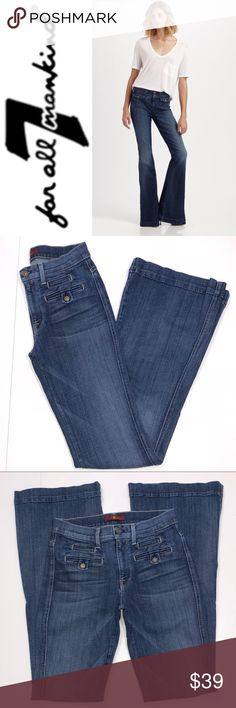 """7 For All Mankind Flare Jeans ✔️Rise: 9"""" ✔️Inseam: 33.5"""" approx. ✔️98% Cotton•2% Spandex ✔️Excellent Used Condition ✔️1704-4 7 For All Mankind Jeans"""