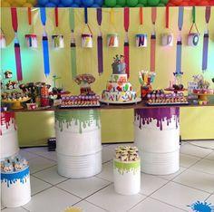 ideas decoracin y para fiestas fiesta temtica art party