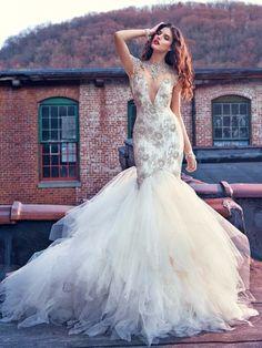 Robe de Mariage 2016 Por Encargo Blanca/de Marfil de Tulle de Lujo Que Rebordea Sequined Crystal Ruffles Sirena Vestido De Novia Vestidos de Novia en Vestidos de novia de Bodas y Eventos en AliExpress.com | Alibaba Group