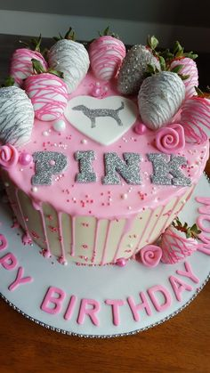 Victoria secret Drip Cake by Trina truYou can find Victoria secret pink birthday party and more on our website.Victoria secret Drip Cake by Trina tru Sleepover Birthday Parties, 18th Birthday Party, Sweet 16 Birthday, Birthday Gifts, Pink Birthday Cakes, Birthday Cakes For Teens, Birthday Ideas, Victoria Secret Cake, Victoria Secrets