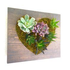 Heart Vertical Garden, Vertical Planter, Living Wall, Wall Planter, Hanging…