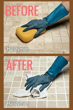 How To Whiten Grimy Grout Freshen Up Your Tile Without Regrouting Read More Http Www Familyhandyman Com Tiling Grouti Cleaning Hacks Grout Cleaner Cleaning