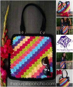 Free crochet pattern: C2C Crochet Tote Bag by The Purple Poncho