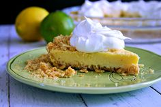 Atlantic Beach Pie by lifeloveandgoodfood: This vintage recipe made famous by restaurants along the North Carolina coast is made with a lemon-lime filling and a salty-sweet crust made out of saltine crackers. #Pie #Atlantic_Beacj #Lemon_Lime