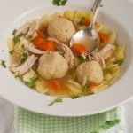 Gluten free Matzoh ball soup, comfort foor for any day of the year
