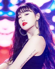 Image may contain: one or more people and closeup Kpop Tattoos, Girl Tattoos, Tatoos, Kpop Girl Groups, Korean Girl Groups, Kpop Girls, Extended Play, Yoga Symbole, Soo Jin