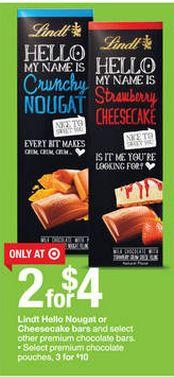 Target: FREE Lindt Chocolate Bars