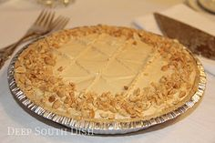 Elvis Pie! Peanut butter paired with chocolate and bananas makes a great pie for any day. Don't forget the milk!