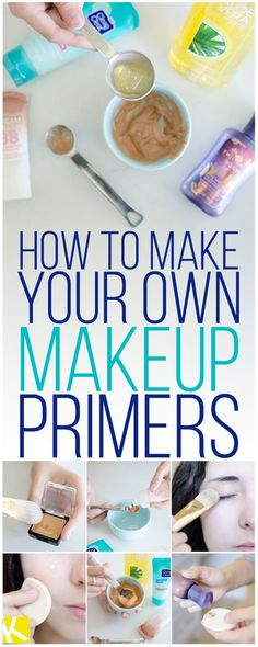 Beauty fans, save money and make your own makeup primer! This homemade face primer is the best I've ever used. It's easy to make and requires only four ingredients. Belleza Diy, Tips Belleza, Do It Yourself Fashion, Makeup Yourself, Aloe Vera, Festival Make Up, Make Up Palette, Do It Yourself Organization, Make Your Own Makeup