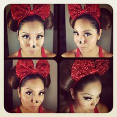 Minnie mouse makeup | Disfraces | Pinterest | Minnie mouse, Mice ...