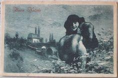 1918  Figura Buon Natale uff. rev stampa Milano, N1592 cartolina con francobollo Italia da 10 cent,