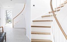 Den oprindelige spindeltrappe er erstatet af en halvsvingtrappe, som skaber en mere central adgang mellem etagerne. Foto: Christina Kayser Onsgaard