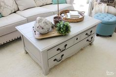 Take that old coffee table you're thinking about giving away and give it a facelift with Design Dazzle!
