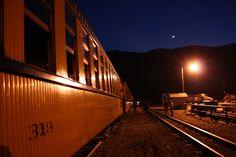 Durango Blues Train at night - Photo by Hart Roberts.
