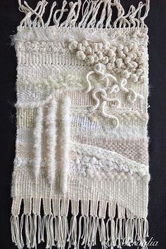Aventures Textiles: Troisième projet blanc 3D, mélange de matières, tr...
