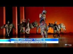 Today it was announced 'The Lion King' musical is the most successful work in any media. Lion King Video, Lion King Jr, Lion King Musical, Lion King Broadway, Great Videos, Kids Videos, Good Morning America, Circle Of Life, African Culture