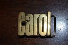 70s Monogram brass buckle.  Carol.  Baron Buckle by FlanneryCrane