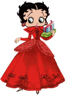 Betty+Boop+Christmas | Betty Boop photo BettyBoopPresentGownRed.gif