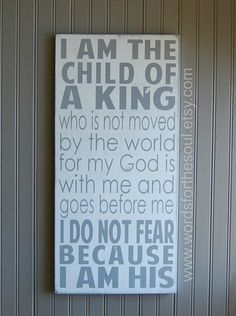 I am HIS I am The Child of a KING NURSERY by WordsForTheSoul